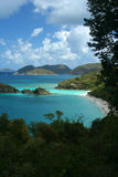 St. John, USVI. This beach is considered one of the most beautiful in the world: Trunk Bay in the USVI royalty free stock image