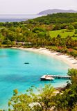 St. John, USVI - Caneel Bay Beach and Resort. A gorgeous view from above world famous Caneel Bay beach and resort on the island of St. John, in the US Virgin