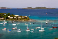 St. John, USVI - Cruz Bay Yachts and Sailboats Stock Photos
