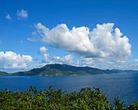 St John USVI donnant sur les Anglais Tortola Photos libres de droits