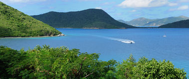 St. John, USVI Panorama stock image