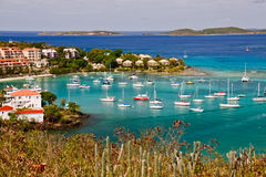 St. John, USVI - Stunning Cruz Bay Stock Photo