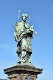 St John van Nepomuk, de brug Tsjechisch Praag van Charles, Royalty-vrije Stock Afbeelding