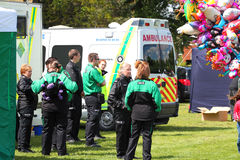 St Johns ambulance medics. Royalty Free Stock Images