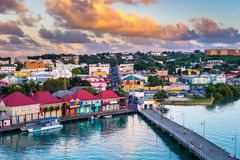 St Johns Antigua image stock