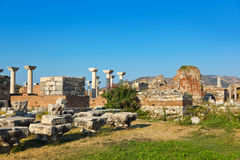 St. Johns Basilica at Selcuk Ephesus Turkey Royalty Free Stock Photography