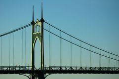 St. Johns Bridge, Portland, Or Stock Image