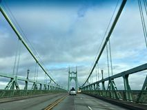 St Johns bro Portland ELLER USA_12-03-2017 arkivfoto