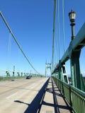 St Johns bro Portland Oregon Arkivbild