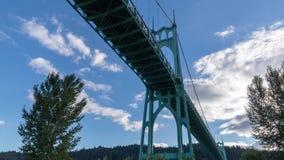 St Johns Brug in Portland Oregon stock footage