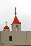 St Johns Church,. Red roof on christian church Akko,Jerusalem,Israel Royalty Free Stock Photo
