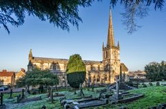 St Johns Church and cemetery Frome, Somerset Royalty Free Stock Image