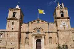 St. Johns Co-Cathedral. In Valletta was built for the knights of St. John Stock Photography