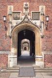 St.Johns College in Cambridge University, England. Arch in St.Johns College, Cambridge University, England Stock Image