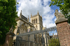 St Johns College Chapel as seen from Outside Fence Stock Photography