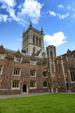 St Johns College Chapel Tower from Second Court Royalty Free Stock Photography