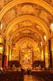 St Johns Kathedraal in Valletta op het Eiland van Malta stock afbeelding