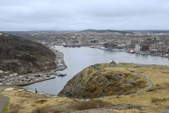st johns newfoundland гавани Канады Стоковое Изображение RF