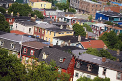 St Johns Newfoundland. View over the top of the old city of St. John's, Newfoundland, Canada Stock Photography