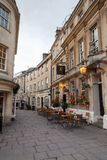 St. Johns Place, Street view of Bath, Somerset stock photo