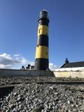St Johns Point Lighthouse. St Johns Point, Co.Down, N.Ireland royalty free stock photography