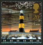 St. Johns Point Lighthouse Postage Stamp Stock Images