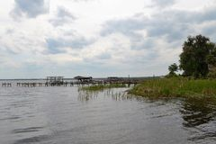 St Johns River Shore-side in Palatka Florida Stock Image