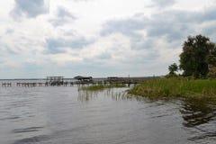 St Johns Rivier kust-Kant in Palatka Florida stock afbeelding