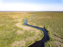 St Johns rzeka Płynie od swój Headwaters Zdjęcia Stock