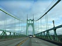 St- Johnsbrücke Portland ODER USA_12-03-2017 stockfotos