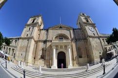 St- Johnskathedrale in Valletta, Malta Stockfotos