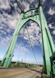 St jones historic bridge. The beautiful st jones historic bridge in portland stock photo