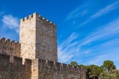 St Jorge castle detail in Lisbon, Portugal Stock Images