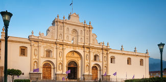 St Jose Parrish, Antigua, Guatemala. ANTIGUA, GUATEMALA - March 2, 2016: Saint James Cathedral, Central Square, Antigua, Guatemala, Spanish Baroque Guatemalan Royalty Free Stock Photography
