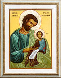 St Joseph и младенец Иисус стоковая фотография rf
