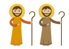St. joseph. Cartoon isolated, white background. vector Royalty Free Stock Photos