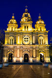 St Joseph Cathedral en la noche, Pekín Foto de archivo libre de regalías