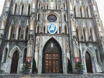St Joseph Cathedral i Hanoi, Vietnam royaltyfria bilder