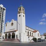 St Joseph Cathedral nella vicinanza di Cortez Hill di San Diego del centro Fotografia Stock Libera da Diritti