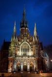 St.Joseph Church in Krakow. Church of St Joseph - a historic Roman Catholic church in Krakow at dusk, Poland Royalty Free Stock Photos