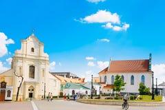 St Joseph Church in Minsk, Wit-Rusland Stock Afbeeldingen