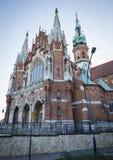 St. Joseph church in Podgorze district of Krakow city, Poland. St. Joseph`s church in Podgorze district of Krakow city, Poland royalty free stock image