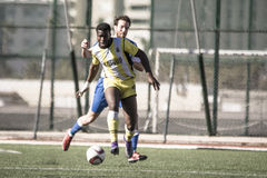 St Joseph go through to semi finals after penalty shootout with. 11th March 2017 - Gibraltar Rock Cup Quarter Finals -  football - St Joseph 0 - 0 Lynx St Joseph Stock Images