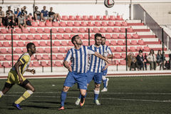 St Joseph go through to semi finals after penalty shootout with. 11th March 2017 - Gibraltar Rock Cup Quarter Finals -  football - St Joseph 0 - 0 Lynx St Joseph Royalty Free Stock Image