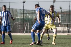 St Joseph go through to semi finals after penalty shootout with. 11th March 2017 - Gibraltar Rock Cup Quarter Finals -  football - St Joseph 0 - 0 Lynx St Joseph Stock Image