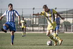 St Joseph go through to semi finals after penalty shootout with. 11th March 2017 - Gibraltar Rock Cup Quarter Finals -  football - St Joseph 0 - 0 Lynx St Joseph Royalty Free Stock Photos