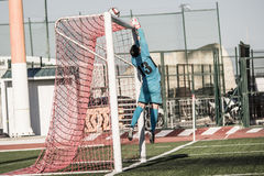 St Joseph go through to semi finals after penalty shootout with. 11th March 2017 - Gibraltar Rock Cup Quarter Finals -  football - St Joseph 0 - 0 Lynx St Joseph Stock Photography