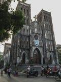 St Joseph katedra w Hanoi, Wietnam fotografia stock