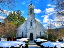 St Joseph kyrka i Connecticut Arkivfoton