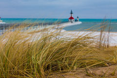 St. Joseph Michigan light house royalty free stock photos